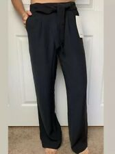 "3e52f2ad45 Lululemon Size 4 Noir Pant Black BLK 30"" Inseam High Waist Wide Leg NWT"