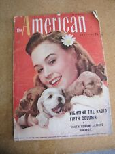 """Vintage """"The American"""" Magazine September 1940 w/ Ruth Martin Cover Photo"""
