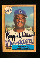 REGGIE WILLIAMS 1987 TOPPS AUTOGRAPHED SIGNED AUTO BASEBALL CARD 232 DODGERS