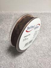 25mm Chocolate Brown Ribbon Wired Edge - 25m Roll Da Vinci Artfleur Florist Gift