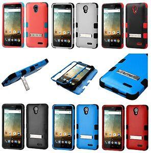 ZTE Prestige 2 N9136 / Zfive 2 (Z837VL) Hybrid Kickstand Armor Phone Case Cover