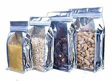 20 Pack Silver Ziplock Food Packaging Aluminium Bags Resealable (18, 28)