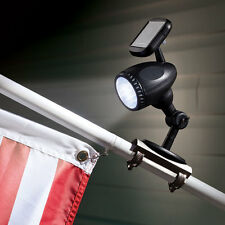 Solar Powered Attachable Flag Pole Spotlight