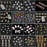 10PCS 3D Nail Art Decoration Multicolor Alloy Pearl Jewelry Glitter Rhinestone