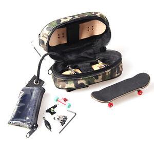 Camo Fingerboard Storage Bag Zipper Stash Tote Carry Case for Finger Skate Board