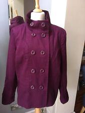 New Look Inspire Purple Coat UK 20