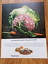 1972 Ad Ponderosa Steak House How Many Fresh Vegetables do you put in a Salad