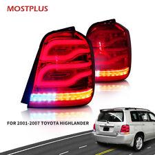 LED Tail Lights for 2001-2007 Toyota Highlander Custom Rear Benz Style lightbar