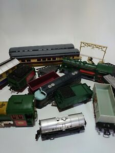 Plastic Train Job Lot - Unbranded - 11 Trains + Carriages