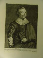 "Künstler/-Atelierszene: Kupferstich nach A. van Dyck ""Paulus de Vos"""