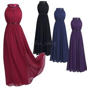 Women Formal Long Chiffon Evening Party Ball Prom Gown Wedding Bridesmaid Dress