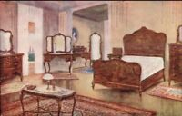 Furniture 1913 James A Scully Furnisher Manchester NH Bedroom Postcard