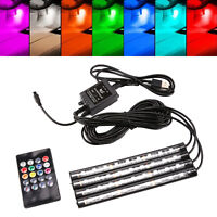 9 LED RGB Car Interior Atmosphere USB Lights Strip Colors Decor Lamps Footwell