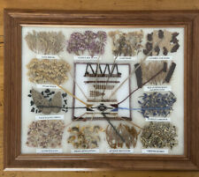 Framed Native American Navajo Rug Natural Dye Chart By Rose Myer