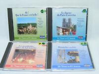 Lot de 4 CD La FRANCE en 100 CHANSONS Française musique TSF Valse bal musette