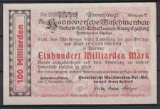 Hannover-Linden - Hannoversche Engineering Ag - 100 Billions Mark