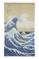 Japanese Noren Curtain UKIYOE SHIRANAMI 85 x 150cm MADE IN JAPAN