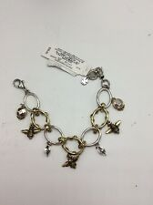 $39 Lucky Brand Silver & Gold Metals Multi 'Bee' Charms Bracelet #L30