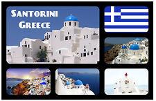 SANTORINI, GREECE - SOUVENIR NOVELTY FRIDGE MAGNET - BRAND NEW - GIFT
