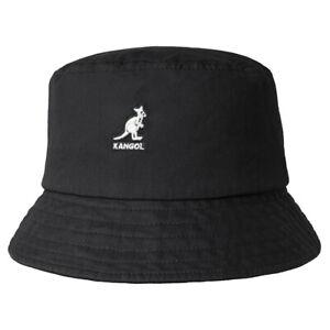 Kangol Mens Washed Black Bucket Hat K4224HT