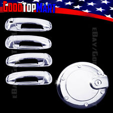 For Jeep LIBERTY 2002 2003 2004 2005 2006 2007 Chrome Covers Set 4 Doors w/o+Gas