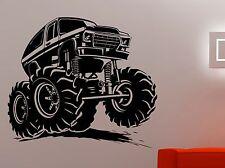 Monster Truck Wall Sticker Vehicle Car Vinyl Decal Art Kids Boys Room Decor 3mrz