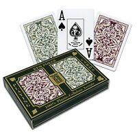 KEM JACQUARD WILDE 2 Jumbo Eckzeichen. 100% Plastik-Acetate Spielkarten-SET