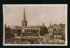 Gloucestershire BRISTOL Bridge and High street scene c1920/30s? RP PPC