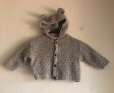 Bellini Made In Italy 24 Mo Baby Wool Blend Bear Button Ear Hood Jacket Coat