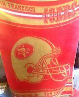 "Vintage San Marcos San Francisco 49ers 47""x63"" Blanket NFL Football RARE"