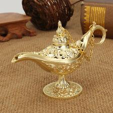 Metal Carved Legend Lamp Aladdin Magic Genie Light Wish Pot Fancy Dress Decor
