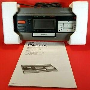SONY Editor RM-E100V Analog Video Editing Controller Camcorder Betamax VHS VCR