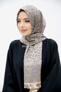 Jaquard pattern Long Turkish Scarves - in variety of colours