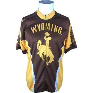 Adrenaline Promo University of Wyoming Cowboys Full zip Cycling Jersey Men's XL