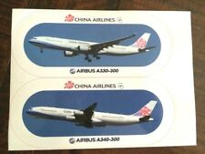 China Airlines A330 & A340 Airplane Stickers Collectible New One piece