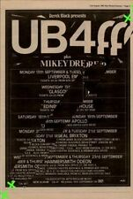 UB40 Mikey Dread Tour Advert NME Cutting 1982