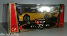 1:18 Scale Burago Gold Collection Dodge Viper RT/10 - Yellow