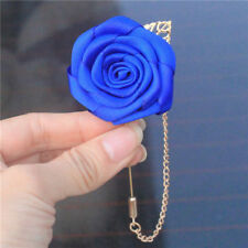 *UK* Wedding Roses Lapel Pins Groomsmen Corsage Brooch Boutonniere Suit Stick