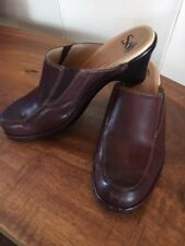 SOFFT Brown Leather Clogs Mules Women's Studded Shoes Size 8