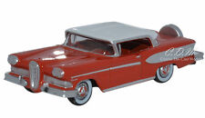 Oxford 1958 Edsel Citation Ember Red/White  1/87 HO Scale Die-Cast Metal Car