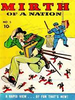 COMIC BOOK MIRTH OF A NATION 001 VINTAGE RETRO POSTER WALL ART PRINT 1441PY