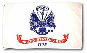 3x5FT US Army Flag White Military United States Veteran Banner Man Cave 100D
