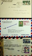 DOMINICA 1945 3 NICE AIRMAIL COVERS EMBASSY GEOGRAPHIC SOCIETY USA