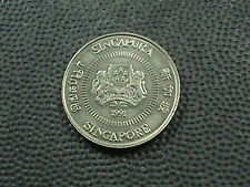 SINGAPORE    10  Cents    1991    UNCIRCULATED