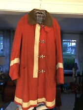 Rare Vtg. Chevrolet Security Firefighter Style Jacket W/ Toggles Corduroy Collar