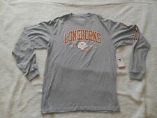 Authentic Texas Sports Texas Longhorns L/S Cotton Football Shirt Men M TAGS NEW!