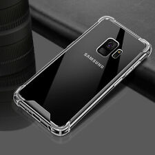 For Samsung Galaxy S9 S8 Plus Note 9 TPU Transparent Shockproof Hard Shell Case