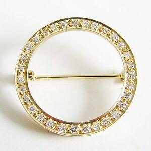 Brosche Gold 585er Brillanten Goldnadel 14 kt. Diamant Goldschmuck Edelsteine