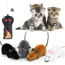 Wireless Remote Control RC Rat Electronic Mouse For Cat Dog Pet Toy Novelty