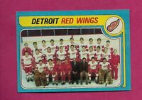 1979-80 TOPPS # 249 RED WINGS  UNMARKED TEAM CHECKLIST NRMT-MT CARD (INV#6082)